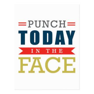 Cartão Postal Perfurador hoje na tipografia engraçada da cara