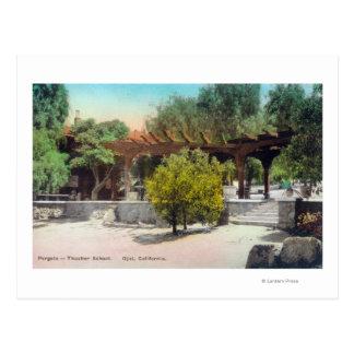 Cartão Postal Pergola ViewOjai da escola de Thacher, CA