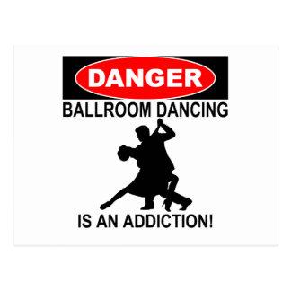 Cartão Postal PERIGO: A dança de salão de baile é um vício