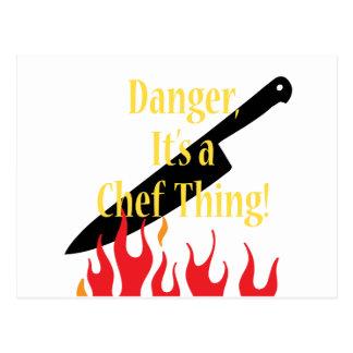 Cartão Postal Perigo, uma coisa do cozinheiro chefe