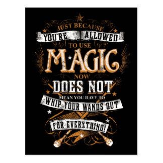 Cartão Postal Período | de Harry Potter apenas porque T é