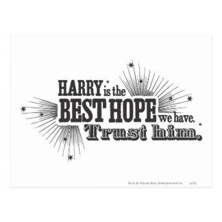 Cartão Postal Período   de Harry Potter nossa melhor esperança