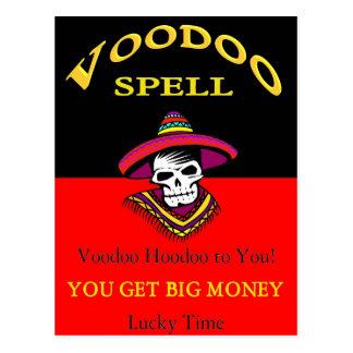Cartão Postal Período grande do Voodoo do dinheiro