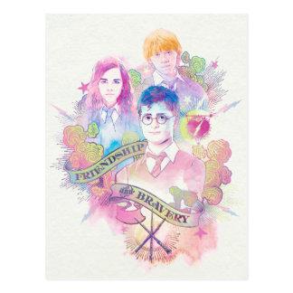 Cartão Postal Período   Harry, Hermione, & Ron Waterc de Harry