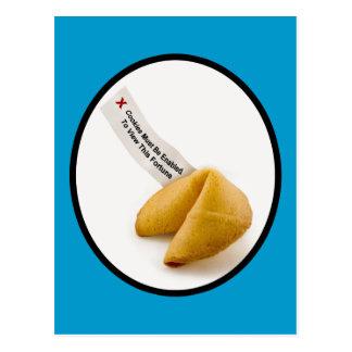 Cartão Postal Permita biscoitos de fortuna