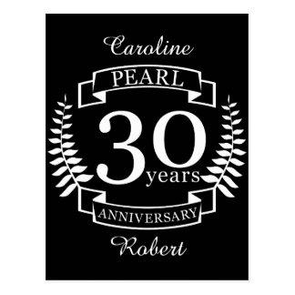 Cartão Postal Perolize o 30o aniversário de casamento 30 anos