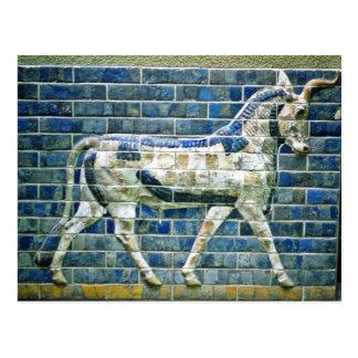 Cartão Postal Persa Bull - tijolo vitrificado, Istambul