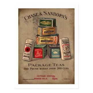 Cartão Postal Perseguição & chá de Sanborn
