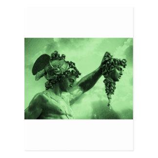 Cartão Postal Perseus contra o Medusa