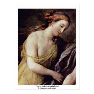 Cartão Postal Perseus e detalhe do Andromeda