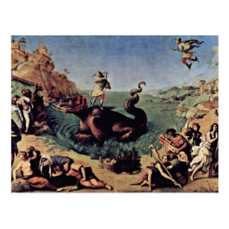 Cartão Postal Perseus livrou o Andromeda por Piero di Cosimo