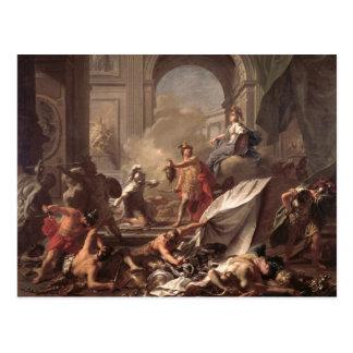 Cartão Postal Perseus, sob a protecção de Minerva