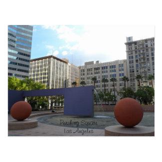 Cartão Postal Pershing Los Angeles quadrada