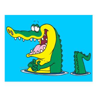 Cartão Postal personagem de desenho animado parvo do crocodilo