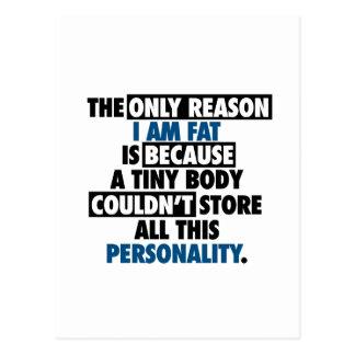 Cartão Postal Personalidade impressionante do corpo grande