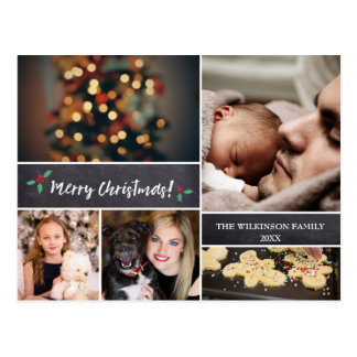 Cartão Postal Personalizado, Feliz Natal, quadro, foto