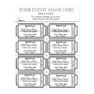 Cartão Postal Personalize-o! Raffle bilhetes