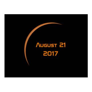Cartão Postal Perto do eclipse solar parcial do 21 de agosto de