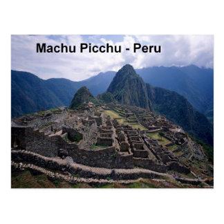 Cartão Postal Peru as ruínas de Machu Picchu (St.K.)