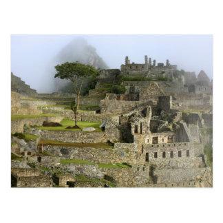 Cartão Postal Peru, Machu Picchu. A citadela antiga de