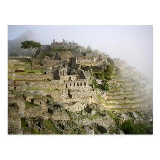 Cartão Postal Peru, Machu Picchu. A citadela antiga de Machu