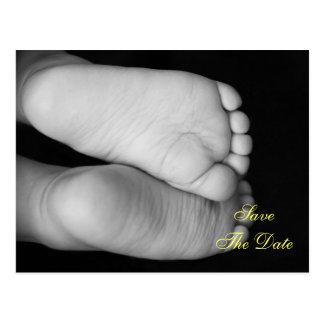 Cartão Postal Pés bonitos do bebê