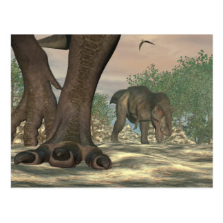 Cartão Postal Pés do dinossauro do rex do tiranossauro - 3D