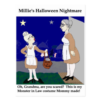 Cartão Postal Pesadelo do Dia das Bruxas de Millie
