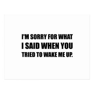 Cartão Postal Pesaroso para o que disse Wake Up