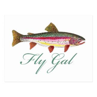 Cartão Postal Pesca com mosca da truta