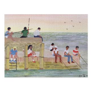 Cartão Postal Pesca crepuscular 1988