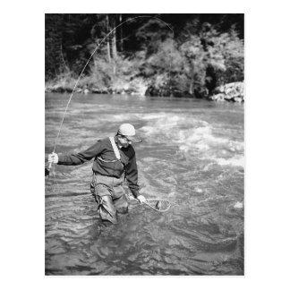 Cartão Postal Pesca do homem