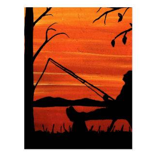 Cartão Postal Pesca ida