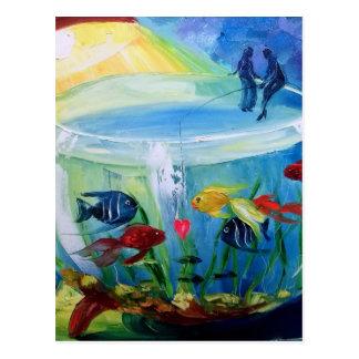 Cartão Postal Pesca no aquário