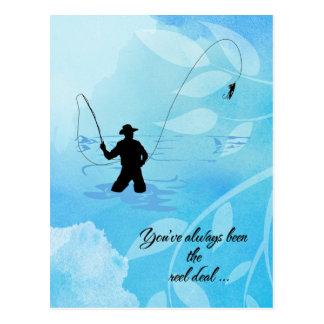 Cartão Postal Pescador da mosca você foi sempre o negócio do