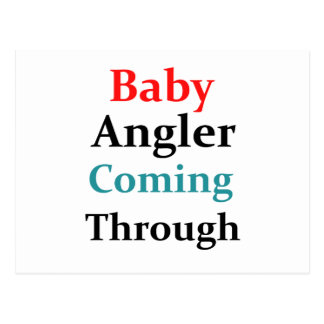 Cartão Postal Pescador do bebê que vem completamente