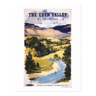 Cartão Postal Pescador no vale de Eden