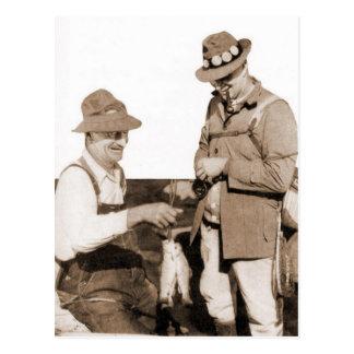 Cartão Postal Pescadores do vintage