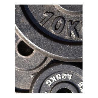Cartão Postal Pesos do Gym