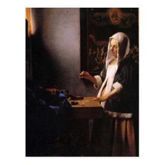Cartão Postal Pesos por Johannes Vermeer