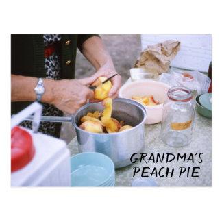 Cartão Postal Pêssegos frescos da receita da torta do pêssego da
