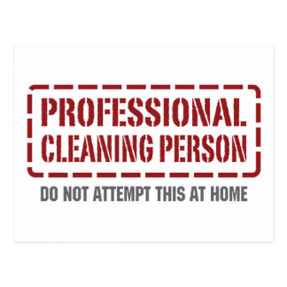 Cartão Postal Pessoa profissional da limpeza