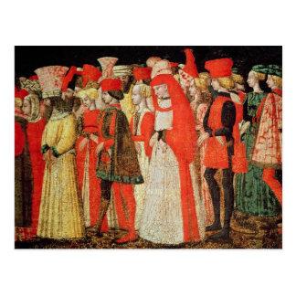 Cartão Postal Pessoas da corte da família de Sforza