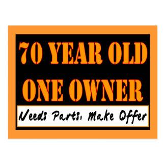 Cartão Postal Pessoas de 70 anos, um proprietário - as peças das