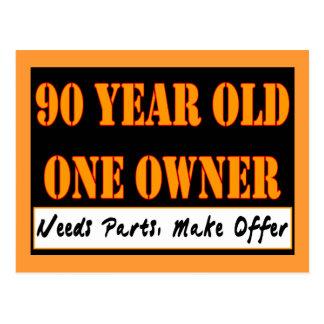 Cartão Postal Pessoas de 90 anos, um proprietário - as peças das
