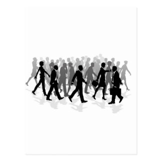Cartão Postal Pessoas de pressa de passeio da multidão do