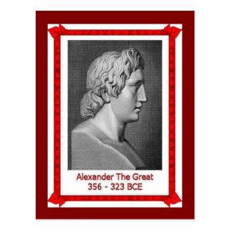 Cartão Postal Pessoas famosas, Alexander os grande 356-323 BCE