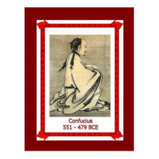 Cartão Postal Pessoas famosas, Confucius, 551-479BC