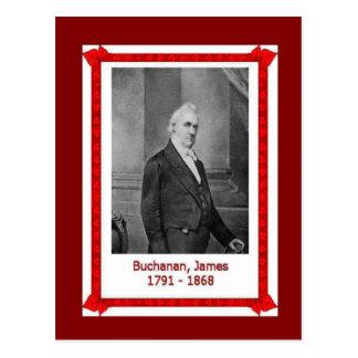 Cartão Postal Pessoas famosas, James Buchanan 1701 - 1868
