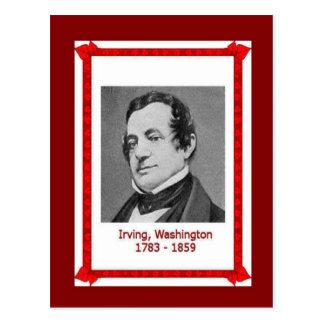 Cartão Postal Pessoas famosas, Washington Irving 1783-1859